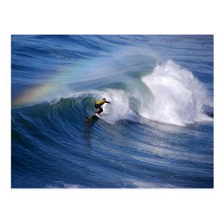 Rainbow Over a California Surfer Postcard