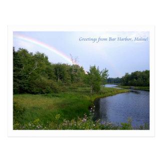 Rainbow over Bar Harbor Maine Post Cards