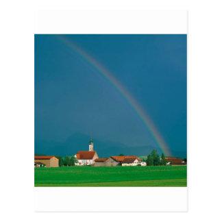 Rainbow Over Bavaria Germany Post Cards