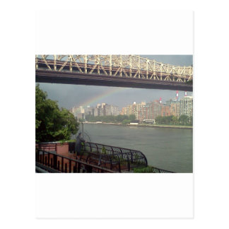 Rainbow over East River Post Card