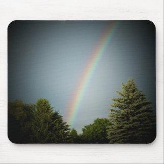 Rainbow over Evergeen Mouse Mat