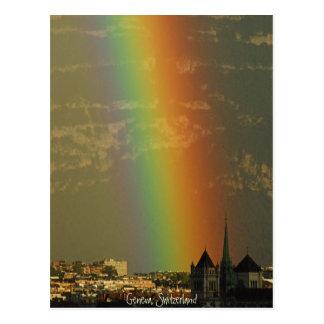 rainbow over Geneva Postcard