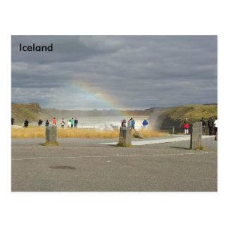 Rainbow over Gullfoss, Hvítá River, Iceland Post Cards