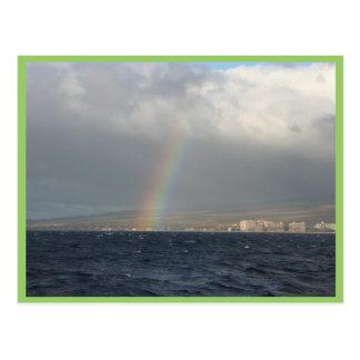 Rainbow Over Hawaiian Postcard