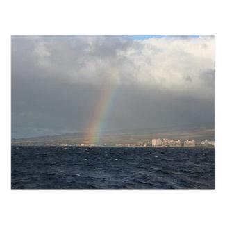 Rainbow Over Hawaiian Post Card