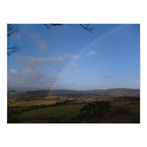 Rainbow Over Holcombe Posters