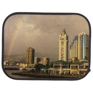 Rainbow over Honolulu, Hawaii, USA 2 Car Mat