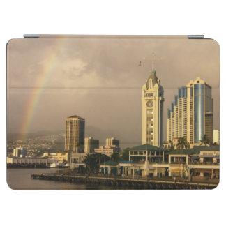 Rainbow over Honolulu, Hawaii, USA 2 iPad Air Cover