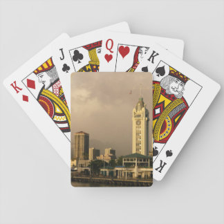 Rainbow over Honolulu, Hawaii, USA 2 Playing Cards