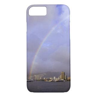 Rainbow over Honolulu, Hawaii, USA iPhone 7 Case