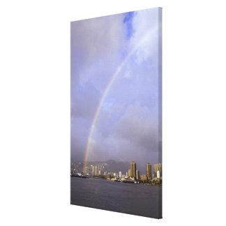 Rainbow over Honolulu, Hawaii, USA Stretched Canvas Prints