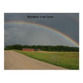 Rainbow  over Iowa Postcard