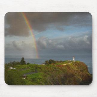 Rainbow over Kilauea Lighthouse mousepad