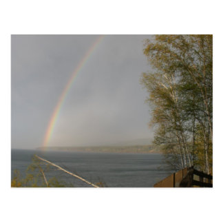 Rainbow over Lake Superior Post Card