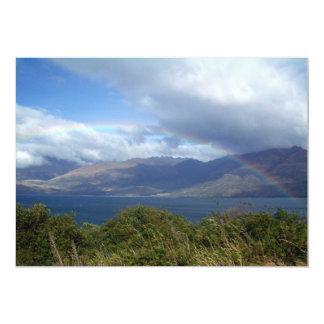 Rainbow over Lake Wanaka, New Zealand 13 Cm X 18 Cm Invitation Card