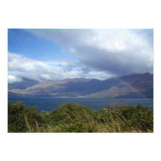 Rainbow over Lake Wanaka New Zealand Announcement