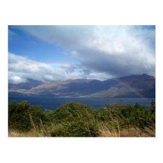 Rainbow over Lake Wanaka, New Zealand Postcards
