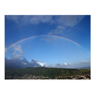 Rainbow over Manoa town on the island of Oahu Postcards