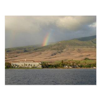 Rainbow over Maui Post Card