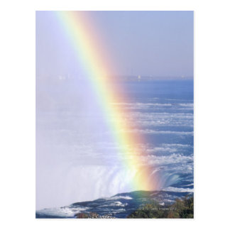Rainbow Over Niagara Falls, New York Postcard