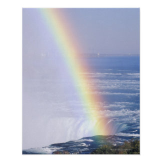 Rainbow Over Niagara Falls, New York Poster