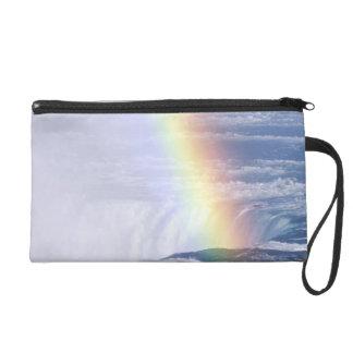 Rainbow Over Niagara Falls, New York Wristlet Purse