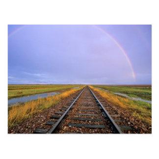 Rainbow over railroad tracks near Fairfield Post Cards