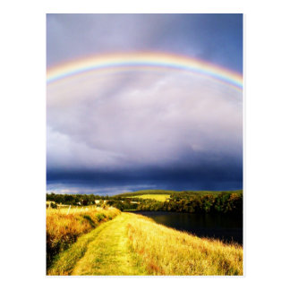 Rainbow Over River Dee Post Card
