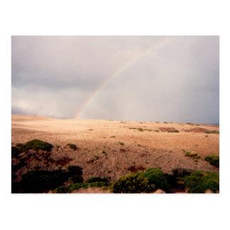 Rainbow over Sand Dunes Postcards