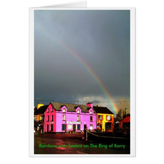 Rainbow over Sneem Card