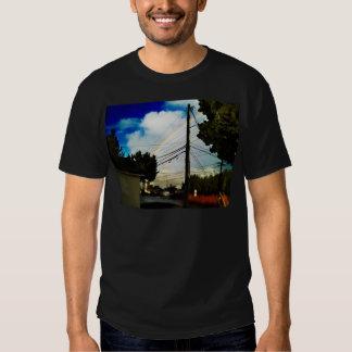 rainbow over streets tee shirts
