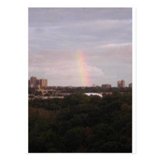 rainbow over The Golfcourse Post Cards