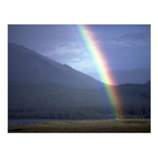 Rainbow over the Mountain River, NWT, Canada Post Card