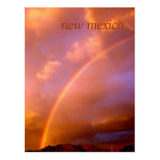 rainbow over the ortiz mountains post card