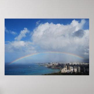 Rainbow over Waikiki 2 Posters