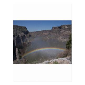 Rainbow Over Water Postcard