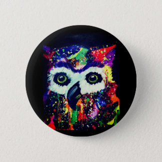 Rainbow Owl Button