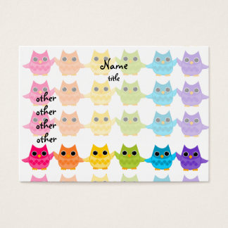 Rainbow Owls Business Card