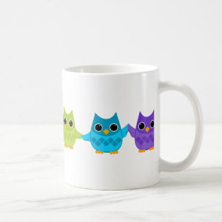 Rainbow Owls Coffee Mug