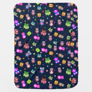 Rainbow owls cute pattern baby blanket
