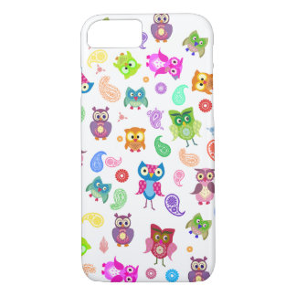 Rainbow owls iPhone 7 case