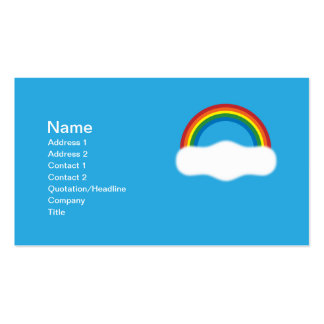 Rainbow Pack Of Standard Business Cards