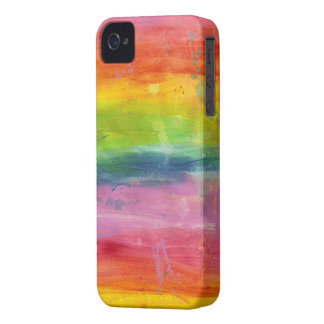 Rainbow paint colorful Blackberry phone case iPhone 4 Case-Mate Case