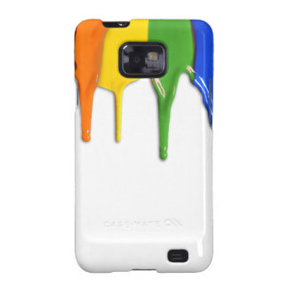 RAINBOW PAINT DRIPPINGS -.png Samsung Galaxy SII Cover