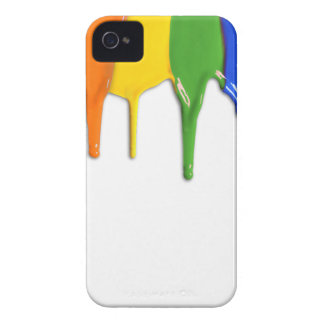 RAINBOW PAINT DRIPPINGS --.png iPhone 4 Case-Mate Case