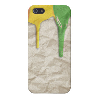 RAINBOW PAINT DRIPPINGS --.png iPhone 5 Case