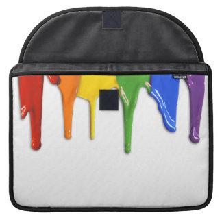 RAINBOW PAINT DRIPPINGS -.png MacBook Pro Sleeve