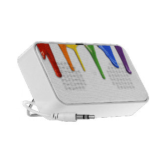 RAINBOW PAINT DRIPPINGS -.png iPod Speaker