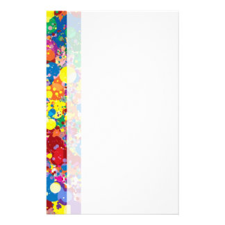 Rainbow Paint Splatter Customised Stationery
