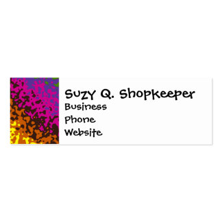 Rainbow Paint Splatter Hippie Earth Tones Abstract Pack Of Skinny Business Cards